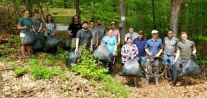 SpinDance team gathers for park clean up
